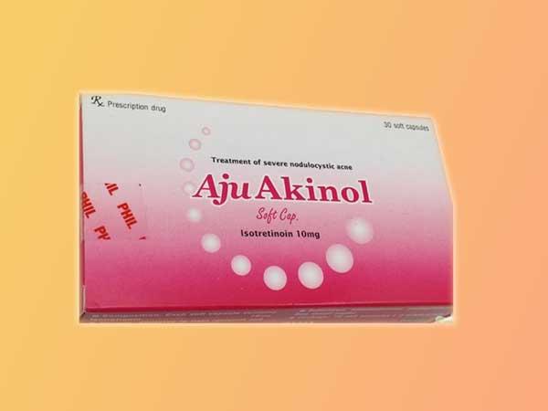 Mỗi hộp thuốc Aju Akinol có 3 vỉ, mỗi vỉ có 10 viên thuốc