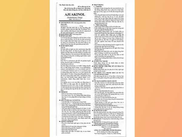 Đọc kỹ hướng dẫn sử dụng Aju Akinol trước khi dùng