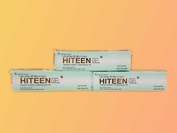 Hiteen gel hiện đang được bán tại các nhà thuốc trên toàn quốc